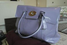 RARE AUTHENTIC MULBERRY BAYSWATER LEATHER LARGE BAG MADE IN ENGLAND LILAC   eBay