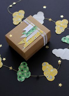 Cloud Garland made with Rosehip papers from Molie Makes 45 #molliemakers