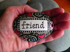 My Precious Friend /Painted Rock / Sandi Pike by LoveFromCapeCod, $24.00