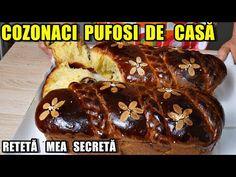 Reteța COZONACI PUFOȘI și super gustoși pentru PAȘTE - Rețeta mea SECRETĂ de cozonac - YouTube Banana Bread, French Toast, Sweets, Breakfast, Youtube, Desserts, Recipes, Food, Morning Coffee