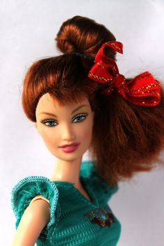 Barbie-Doll-Fashion-Fever-Drew-Redhead-Redressed-Beautiful-Rare