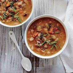Creamy White Bean Soup with Smoked Ham Hocks | CookingLight.com