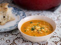 Barilla® Fideo Cut Spaghetti with Chick Peas & Thyme Soup Recipe | Barilla