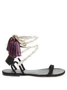 Astrid tassel wraparound rope sandals | Isabel Marant | MATCHESFASHION.COM