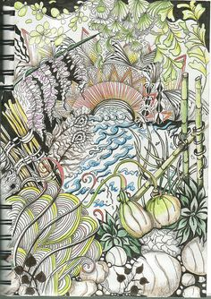 New to Zentangle - This one has many of Molossus tangle patterns in it. Love your stuff Sandra! Zentangle Drawings, Doodles Zentangles, Doodle Patterns, Zentangle Patterns, Zen Doodle, Doodle Art, Zen Colors, Simple Art, Art Forms