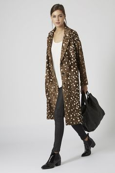 Faux Fur Animal Throw On Coat from Topshop. Love!
