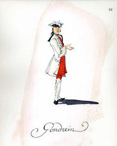 French Army 1735 - Infantry Regiment Gondrin, by Gudenus.