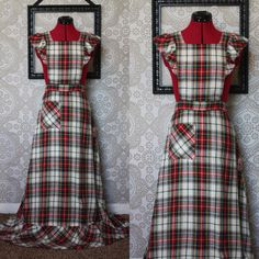 Hey, I found this really awesome Etsy listing at https://www.etsy.com/listing/207842588/vintage-1970s-wool-plaid-apron-dress-sm