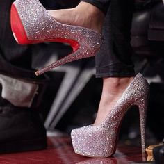 shoes bag red bottoms daffodile pumps silver high heels sparkly heels glitter high heels sparkly christian louboutin crystal quartz closed toe heels high heels silver