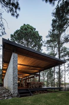Residential Architecture, Contemporary Architecture, Architecture Design, Forest House, House In The Woods, Modern House Design, New Homes, Cottage, House Styles
