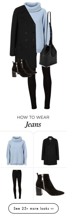 """Untitled #9690"" by alexsrogers on Polyvore featuring AG Adriano Goldschmied, Maison Ullens, Yves Saint Laurent, Dolce Vita and Kenneth Cole"