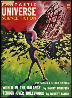 The typical alien body and graphic shape meme in pulp publications.