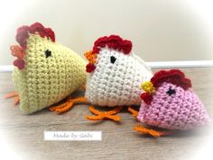 Crochet Pattern Chicken Family – quick & easy - Diy & Crafts World Easter Crochet, Diy Crochet, Crochet Toys, Christmas Crafts For Kids, Easter Crafts, Barbie Costume, Diy Keychain, Crochet Kitchen, Coq