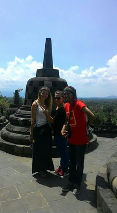 The biggest buddhist temple in indonesia!