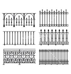 Railings and fences vector