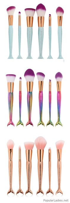 Lovely mermaid brush sets