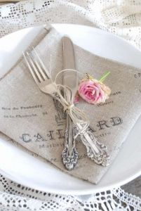 Transfer printable onto linen napkins - for inspiration only - no instructions