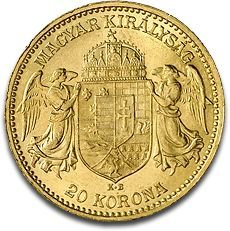 20 Corona, Gold, mixed years, 1892-1914    Franz Joseph I was Emperor of Austria, King of Bohemia, and Apostolic King of Hungary from 1848 to 1916. Early in his reign, Emperor Franz Joseph survived an assassination attempt and went on to build Austria-Hungary into Europe's second largest country geographically (after the Russian Empire), and the third most populous (after Russia and the German Empire)......