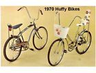 My first bike was a Huffy banana seat bike from the 1960's.  lots of fun!
