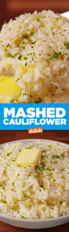 This Mashed Cauliflower is the perfect low-carb substitute for mashed potatoes. Get the recipe on Delish.com.