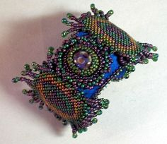 Beading Pattern Peacock Feather Bead Embroidered by HannahRachel