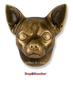 chihuahua dog knocker