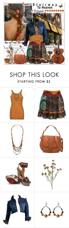 """""""Stairway to heaven: hippie wonderful"""" by annabu ❤ liked on Polyvore featuring Hedi Slimane, Threads for Thought, Forever 21, Rebecca Minkoff, Lanvin, DEPT, Dorothy Perkins, Wedges, boho and Bohemian"""