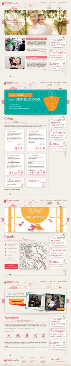 Website for Dream Machine  |  Design: www.pinkelephant.pl /web design /layout /portfolio /web /design /logo