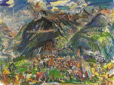 Oskar Kokoschka - Montana Landscape, 1947 at Kusthaus Zurich Switzerland