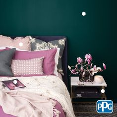 Perfect your next DIY paint project with a color palette from PPG. Trust the company that paints it all to bring color to your home and make any room in your house pop. aus paletten videos Color plays an important role in how a room looks. Interior Design Videos, Diy Interior, Interior Paint, Interior Colors, Room Interior, Exterior Paint Colors, Paint Colors For Home, House Colors, Diy Room Decor
