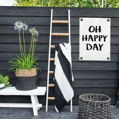 Sipp outdoor Tuinposter Enjoy the little things wit zwart kunststof vinyl S Outdoor Projects, Garden Projects, Garden Tools, Enjoy The Little Things, Garden Makeover, Garden Care, Back Gardens, Garden Inspiration, Home Deco
