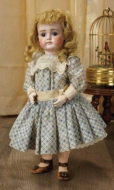 Sanctuary: A Marquis Cataloged Auction of Antique Dolls - March 19, 2016: Beautiful German Bisque Closed Mouth Child, XI, by Kestner