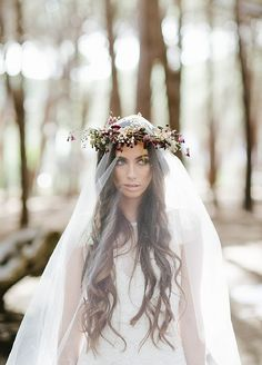 Flower Crown and Veil
