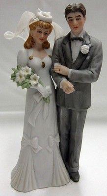 Vintage Porcelain 80's 1989 Roman Inc Bride and Groom | eBay