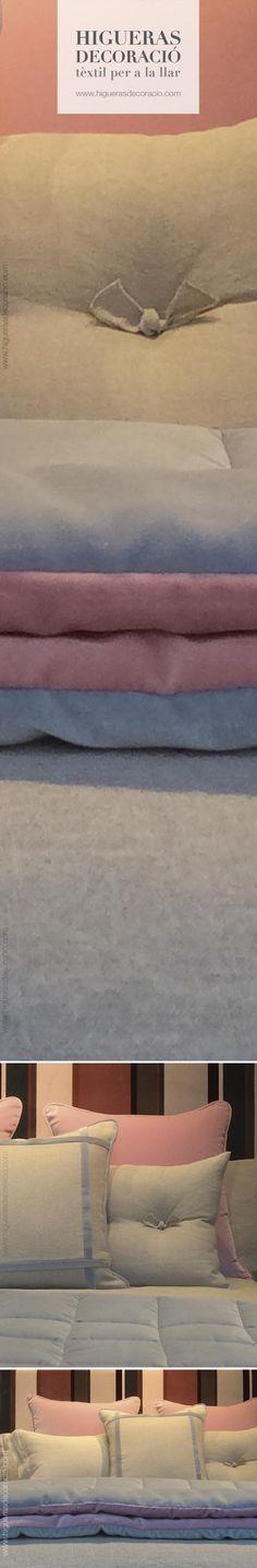 #Dormitorio con estilo. #Cojínes de agradable textura combinados con telas de terciopelo sedoso de dulce tacto. #Combina los #complementos de tus #habitaciones creando #espacios únicos.  #Dormitori amb estil. #Coixins d'agradable textura combinats amb teles de vellut sedos de dolç tacte. #cojínes vestint el llit. #Combina els #complements de les teves #habitacions creant #espais únics. www.higuerasdecoracio.com