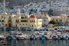 Kalymnos Island Greece, view at the port