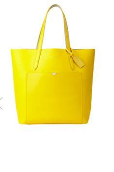 À Paris: Yellow Smythson tote bag
