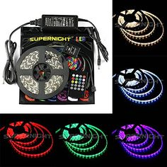 Supernight Rgb Music Controlled Led Strip Light Kit Super Bright Waterproof Flexible Led Light Tape With Led Music Controller Sound Sense Controller Power Supply For Wedding Party Led Rope Lights, Indoor String Lights, Cc Cv, Flameless Candles With Timer, Fiber Optic Christmas Tree, Flexible Led Light, Party Lights, Led Strip, Strip Lighting