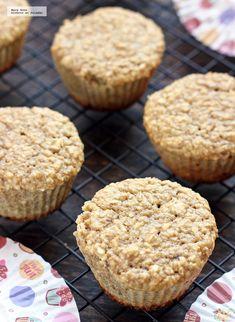 Muffins de plátano y avena. Receta rápida y saludable para el desayuno Whole 30 Recipes, Sweet Recipes, Keto Recipes, Healthy Recipes, Sin Gluten, Rice Krispies, Kids Meals, Bakery, Food Porn
