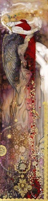 ✯ Venus :: Artist Tom Fleming ✯ Art Magique, Angel Art, Dark Wings, Mythology, Virginia Woolf, Fairy Godmother, Diy Art, Venus, Painting
