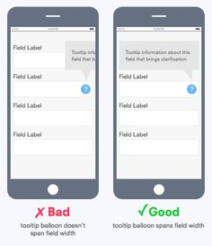 How to Display Tooltips on Mobile Forms