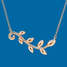 Peace on earth. This Paloma Picasso® Olive Leaf vine pendant in 18k rose gold was inspired by the ancient symbol of peace.