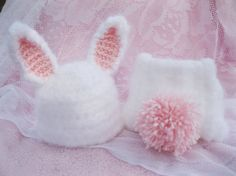 Crochet Bunny Inspired Baby Hat and Diaper Cover by RindCounty, $24.00