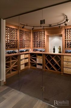 Custom #winecellar with sapele #wine racking #winestorage