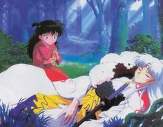 Rin Caring for Sesshomaru