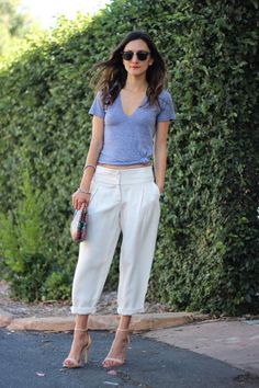 Knotted Tee + Slouchy Trousers