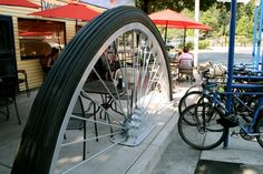 bike rack art | Located in front of the Morning Glory Cafe at 450 Willamette Street ...