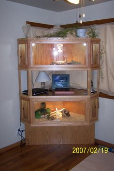 how to build a reptile cage with plexiglass