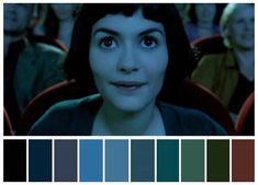 Fotografia no Cinema Amelie, Movie Color Palette, Colour Pallette, Moonrise Kingdom, Renoir, Cinema Colours, Color In Film, Colours That Go Together, Bg Design