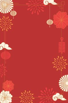 Red Chinese Style Fireworks Xiangyun 2019 New Year Background Design Chinese New Year Wallpaper, Chinese New Year Images, Chinese New Year Background, Chinese New Year Poster, Chinese New Year Design, Chinese New Year Card, New Years Background, Retro Background, New Years Poster